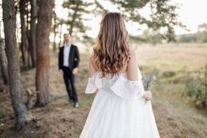 Alterations to transform a plain wedding dress
