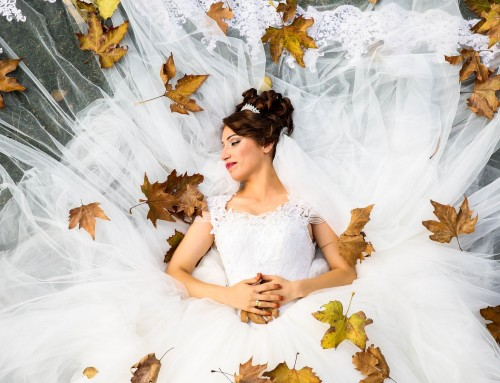 How to make your wedding dress more autumnal